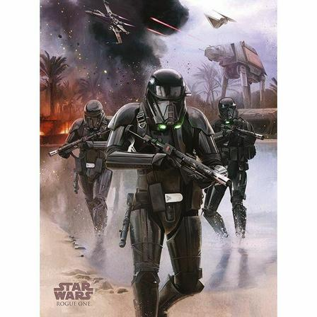 PYRAMID POSTERS - Pyramid Posters Star Wars Rogue One Death Trooper Beachcanvas Print (60 x 80 cm)