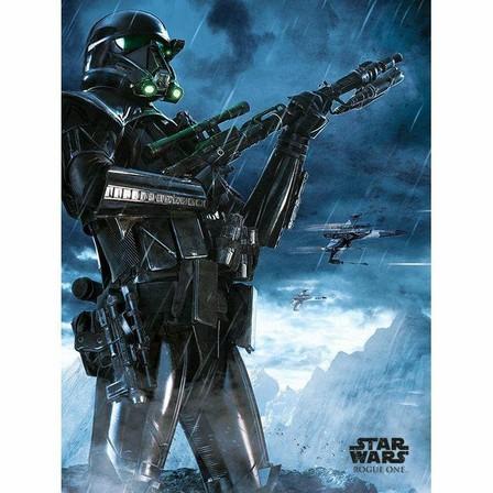 PYRAMID POSTERS - Pyramid Posters Star Wars Rogue One Death Trooper Rain Canvas Print (60 x 80 cm)