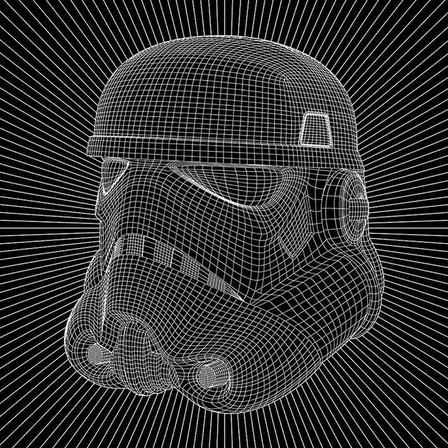 PYRAMID POSTERS - Pyramid Posters Star Wars Stormtrooper Wire Canvas Print (60 x 80 cm)