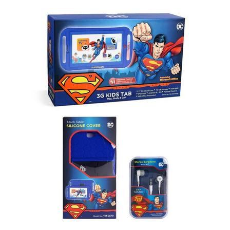 TOUCHMATE - Touchmate Superman 7 Inch 3G Calling Kids Tablet Blue