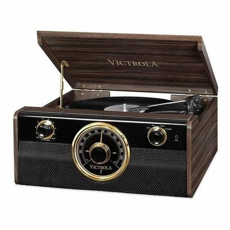 VICTROLA - Victrola Metropolitan 4-In-1 Bluetooth Turntable Music Centre Espresso