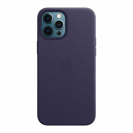 APPLE - Apple Leather Case with MagSafe Deep Violet for iPhone 12 Pro Max