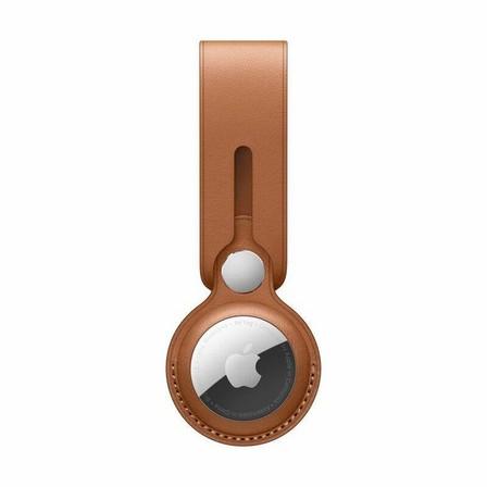 APPLE - Apple Airtag Leather Loop Saddle Brown