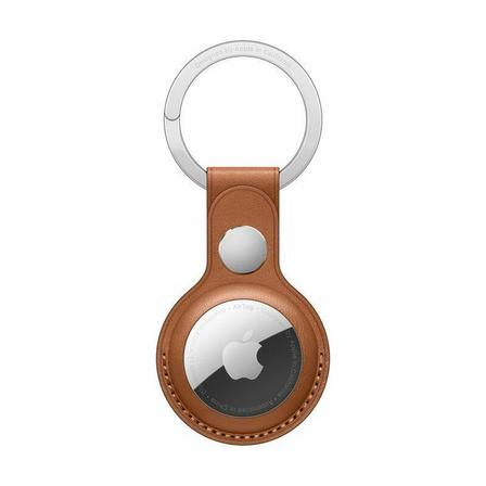 APPLE - Apple Airtag Leather Key Ring Saddle Brown