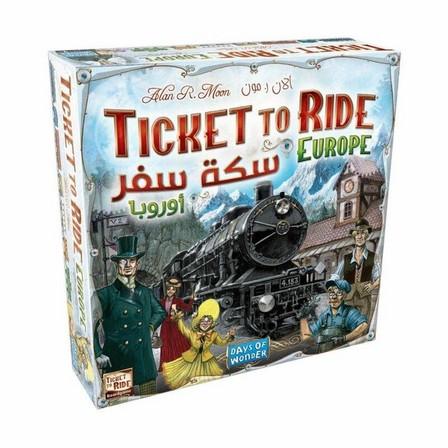 DAYS OF WONDER - Days Of Wonder Ticket To Ride Europe Board Game [Arabic/English]
