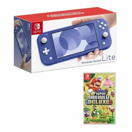 NINTENDO - Nintendo Switch Lite Blue + New Super Mario Bros. U Deluxe [US]
