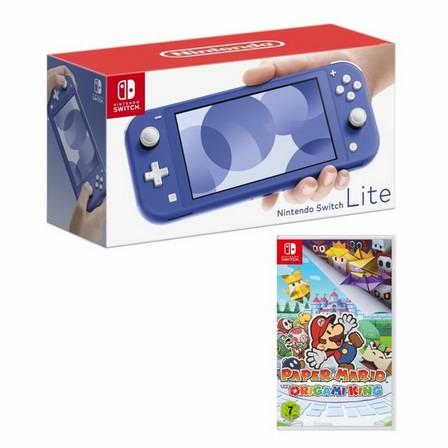 NINTENDO - Nintendo Switch Lite Blue + Paper Mario the Origami King [US]