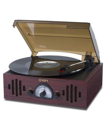 ION AUDIO - ION Trio LP 3-In-1 Retro 3-in-1 Music Center with Turntable