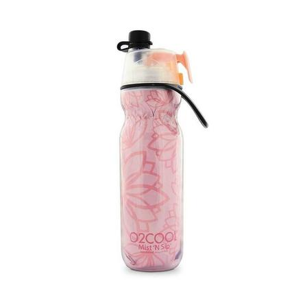 O2COOL - O2Cool Classic Elite Mist'N Sip Insulated Articsqueeze Colors 20Oz Yoga Pink Floral