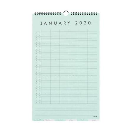 KIKKI.K - kikki.K 2020 Family Wall Calendar Small Essentials Multi-Color