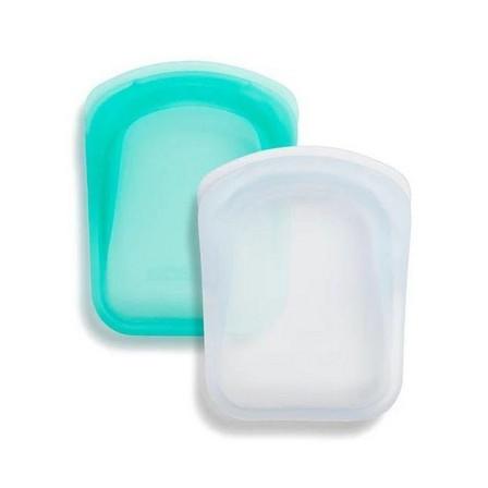 STASHER - Stasher Pocket Bag Clear + Aqua [2 Pack]