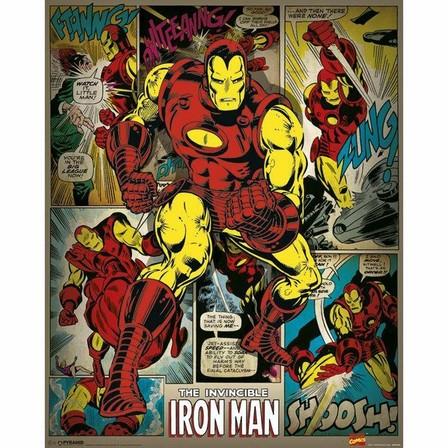 PYRAMID POSTERS - Pyramid Posters Marvel Iron Man Retro Mini Poster (40 X50 cm)