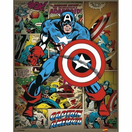 PYRAMID POSTERS - Pyramid Posters Marvel Captain America Retro Mini Poster (40 x 50 cm)