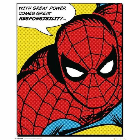 PYRAMID POSTERS - Pyramid Posters Marvel Spider-Man Quote Mini Poster (40X 50 cm)