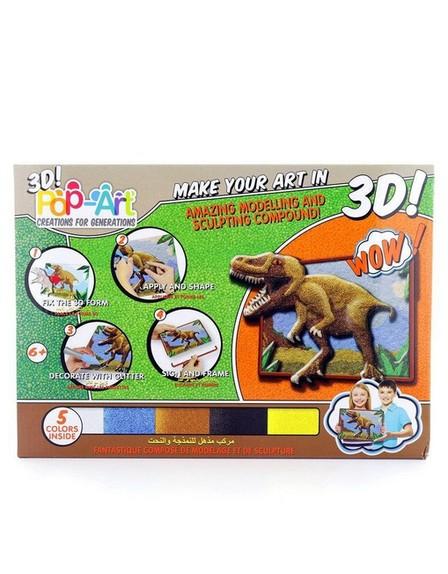 POP ART CREATION FOR GENERATION - Pop Art Sculpt-by-Numbers Art Set Dinosaurs [4 Colors]