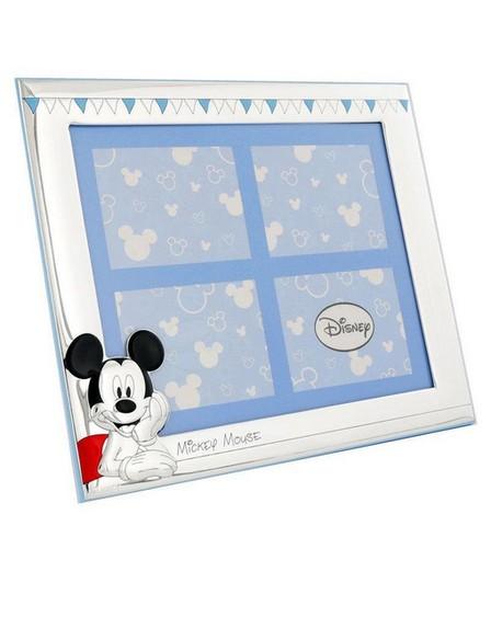 DISNEY - Disney Mickey Mouse Party Portafoto Frame Silver/Blue [17x21cm]