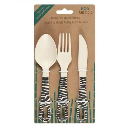 SOMETHING DIFFERENT - Something Different Ziggy Zebra Cutlery Set