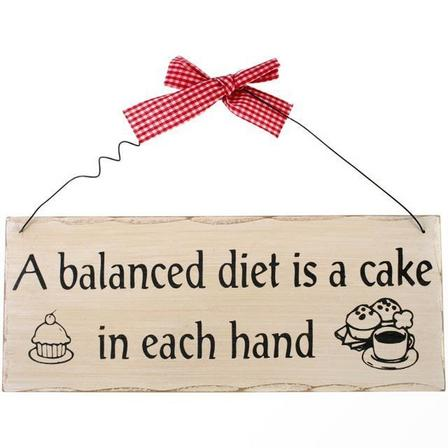 SOMETHING DIFFERENT - Something Different a Balanced Diet Hanging Sign