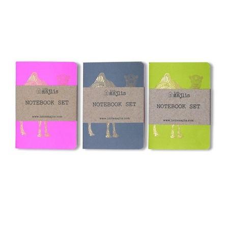 LITTLE MAJLIS - Little Majlis Camel A6 Notebook Gold Mix Set Of 3