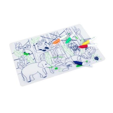 SUPER PETIT - Super Petit Wildlife Jungle South-East Asia Silicone Colouring Mat Kit
