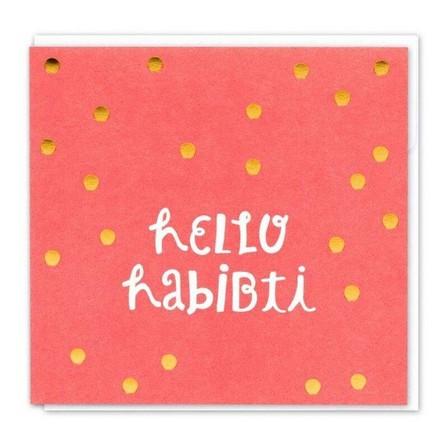 LITTLE MAJLIS - Little Majlis Hello Habibti Pink Greeting Card