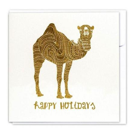 LITTLE MAJLIS - Little Majlis Happy Holidays Gold Greeting Card