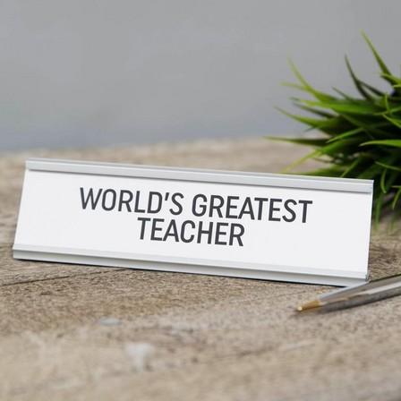 HARVEY MAKIN - Harvey Makin World's Greatest Teacher Desk Plaque