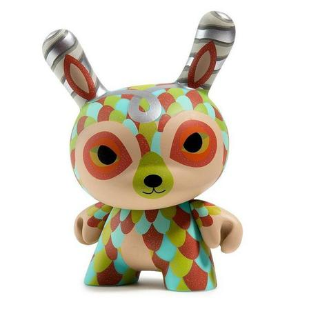 KIDROBOT - Kidrobot The Curly Horned Dunnylope Dunny Art Figure By Horrible Adorables 5 Inch