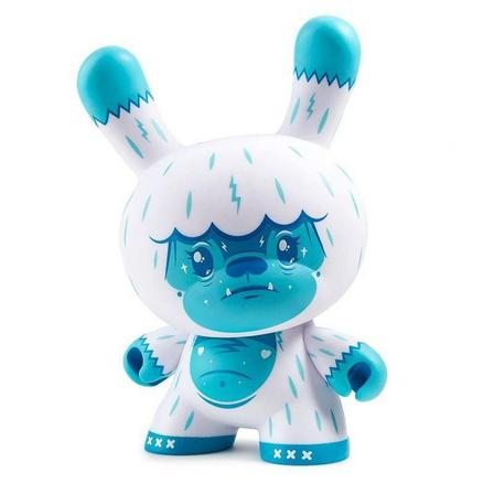 KIDROBOT - Kidrobot Kono The Yeti Ice Blue Dunny Art Figure By Squink 8 Inch