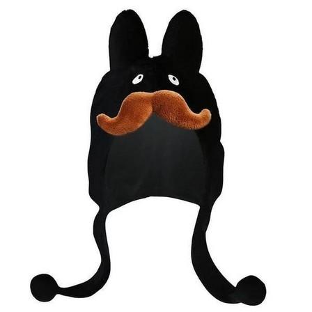 KIDROBOT - Kidrobot Mustache Black Labbit Earflap Hat By Frank Kozik