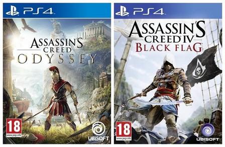 ASSORTED GAMES/BUNDLES - Assassin's Creed Odyssey + Assassin's Creed Black Flag [Bundle] - PS4
