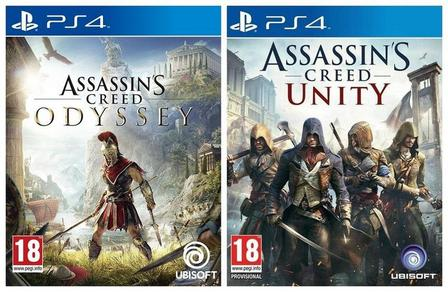ASSORTED GAMES/BUNDLES - Assassin's Creed Odyssey + Assassin's Creed Unity [Bundle] - PS4