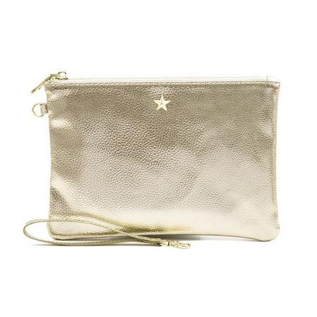 GO STATIONERY - All That Glitters Metallic Light Gold Pouch