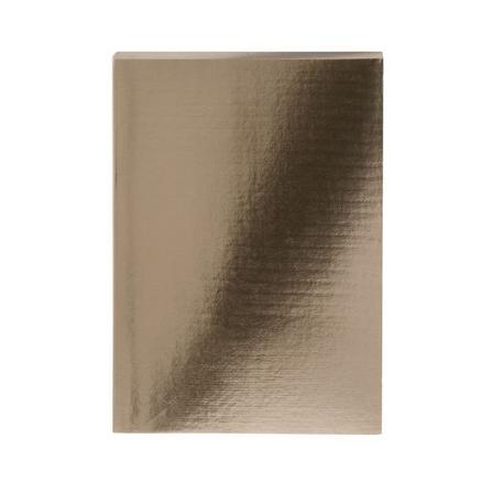 GO STATIONERY - Colourblock Metallic Gold A5 Notebook