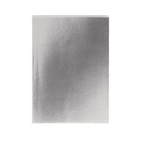 GO STATIONERY - Colourblock Metallic Pewter A5 Notebook