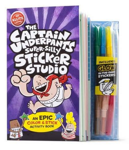 SCHOLASTIC USA - Klutz Captain Underpants Super Silly Sticker Studio