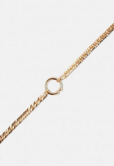 Missguided - Gold Look Open Ring Chain Necklace, Women