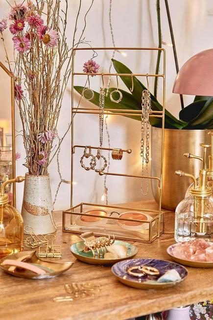 Urban Outfitters - Gold Jewellery Stand