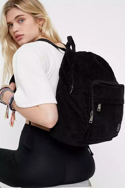 Urban Outfitters - Black UO Core Corduroy Backpack, Women
