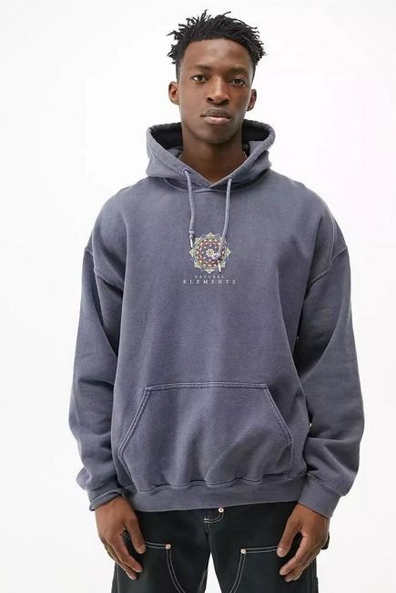 Urban Outfitters - Blue UO Geo Hoodie, Men