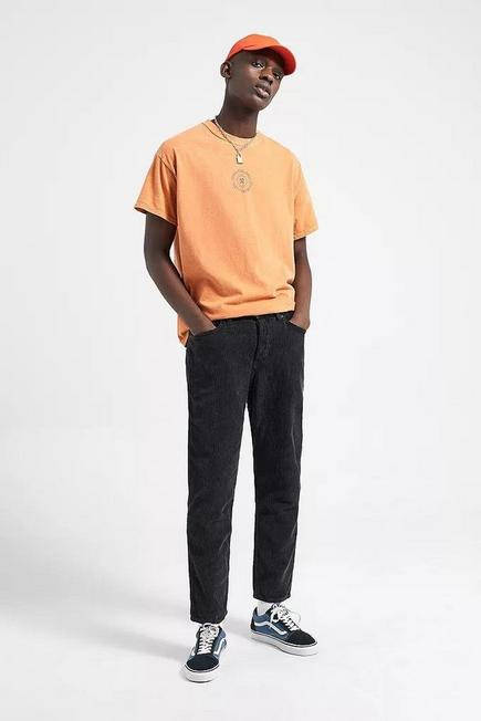 Urban Outfitters - Black BDG Acid Corduroy Dad Trousers, Men