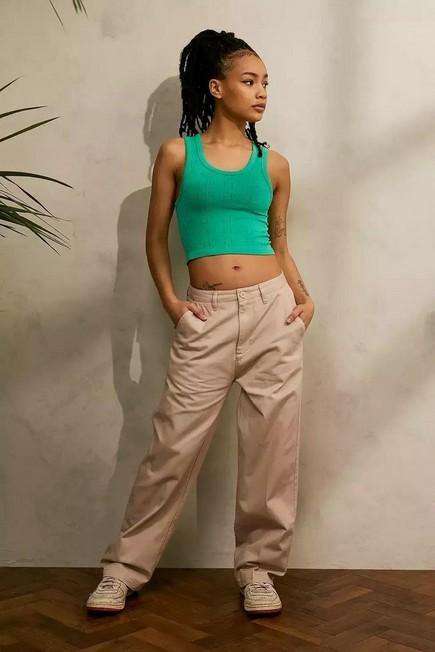 Urban Outfitters - Beige Santa Cruz Nolan Workwear Trousers, Women