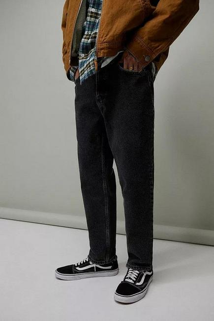 Urban Outfitters - Black BDG Washed Black Recycled Dad Jeans, Men