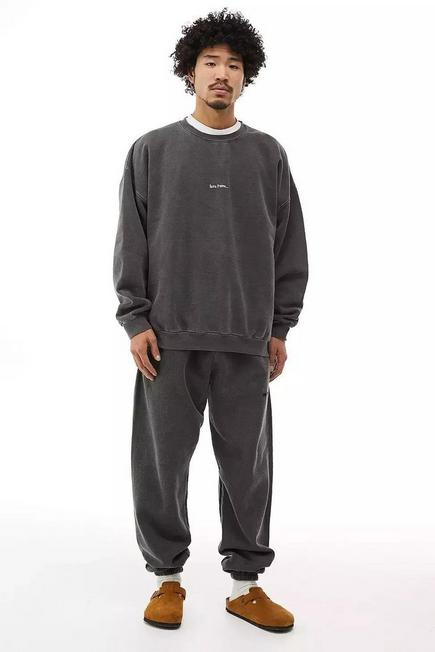 Urban Outfitters - Black iets frans... Overdyed Black Joggers, Men