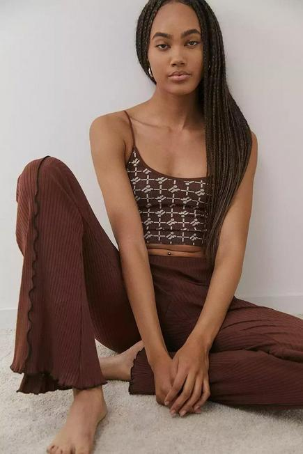 Urban Outfitters - Choco iets frans... Markie Seamless Ribbed Cami, Women