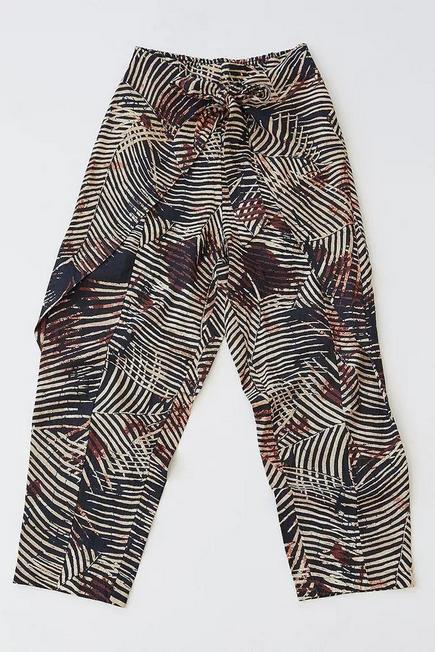 Urban Outfitters - GR MOTIF UO Frida Printed Tapered Beach Trousers