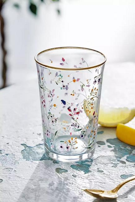 Urban Outfitters - Assorted Floral Glass Tumbler