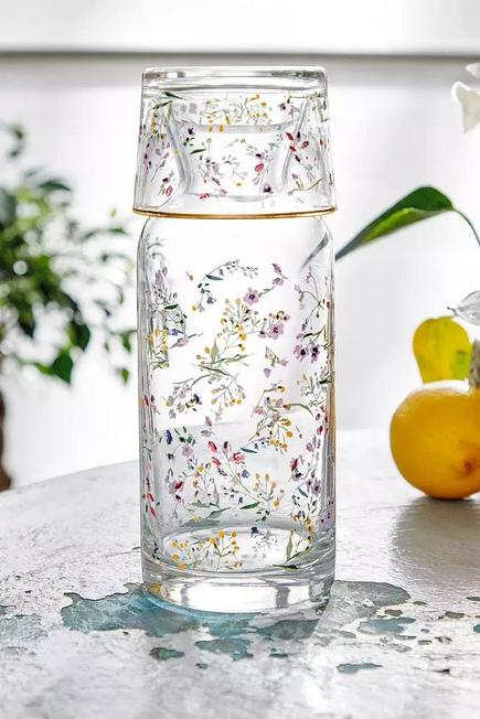 Urban Outfitters - Assorted Floral Glass Carafe