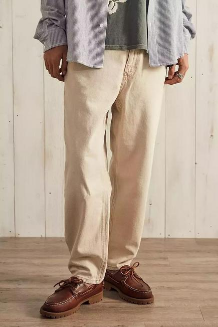 Urban Outfitters - Creme BDG Ecru Bow Jeans, Men
