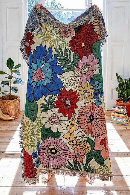 Urban Outfitters - ASSORT Valley Cruise Floral Throw Blanket